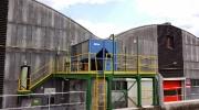 Klimatizace Blue Box usazená na konstrukci