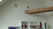 VZT výdechy od klimatizace v obývacím pokoji